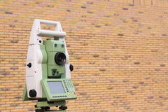 Land surveyor total station Royalty Free Stock Photos