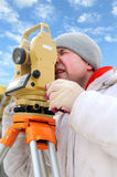 Land surveyor worker Royalty Free Stock Image