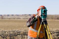 Land surveyors Royalty Free Stock Photo