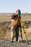 Land surveyors Royalty Free Stock Images