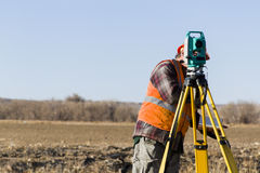 Land surveyors Stock Photo