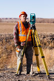 Land surveyors Royalty Free Stock Photography