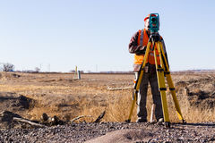 Land surveyors Royalty Free Stock Image