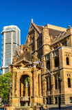 Land Titles Office, a sandstone Neo-Gothic building in Sydney. Australia Royalty Free Stock Photography