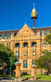 Land Titles Office, a sandstone Neo-Gothic building in Sydney. Australia Royalty Free Stock Photos