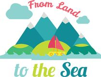 Land To Sea Royalty Free Stock Photography