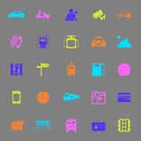 Land transport related color icons on gray background Royalty Free Stock Photography