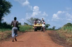 Land transport in Uganda. Royalty Free Stock Photo