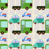 Land transport vehicles seamless background design Royalty Free Stock Photos