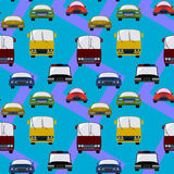 Land transportation seamless background design Stock Photography