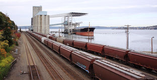 Land-und Seetransport Stockbilder
