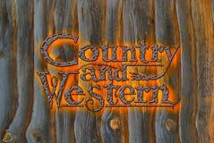 Land und westliches Lizenzfreies Stockfoto