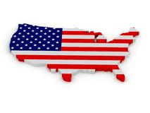 Land of United States of America Royalty Free Stock Image
