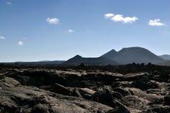 Land van lava Royalty-vrije Stock Afbeeldingen
