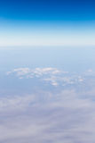 Land, the view from the airplane Stock Image