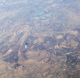 Land, the view from the airplane Stock Photography