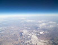 Land, the view from the airplane Royalty Free Stock Images