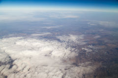 Land, the view from the airplane Royalty Free Stock Photo