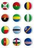 Land vlag-Afrika Royalty-vrije Stock Foto's