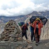 Land von Dolpo, Nepal Stockbild