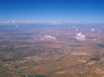 Land von oben Stockfoto