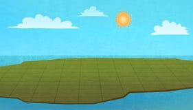 Land von oben, bunte grafische Illustration stock abbildung