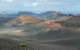 Land von Vulkanen lizenzfreies stockbild
