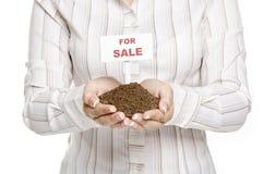 Land voor verkoop royalty-vrije stock afbeeldingen
