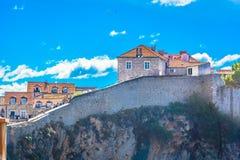 Land Walls in town Dubrovnik, Croatia. royalty free stock photo