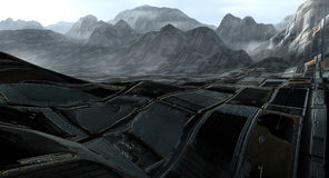 Land of waste. 3D background, land of waste Stock Images
