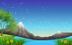 Land and water resources stock illustration
