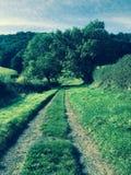 Land-Weg Stockfoto