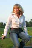Land-westliche Frau 1 Lizenzfreie Stockfotos