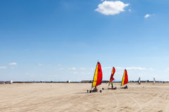 Land windsurfing Royalty Free Stock Photos