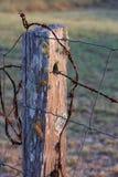 Land-Zaun-Pfosten stockbilder