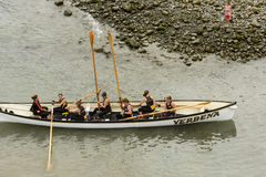 Landa fartyget, Clovelly, Devon Royaltyfri Foto