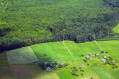 Landa från över Royaltyfri Foto