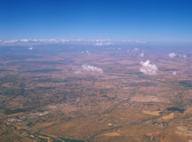 Landa från över Arkivfoto
