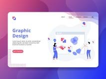 Landa grafisk design för sida vektor illustrationer