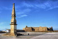 Landa jubileums- monument i Mindelo Royaltyfri Fotografi