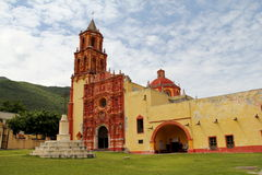 Landa mission IV. Ancient catholic mission of landa de matamoros located near the city of jalpan de serra in the mexican state of queretaro, within the natural Stock Photos