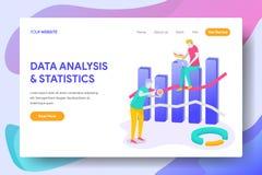 Landa sidaDATAANALYS & STATISTIK stock illustrationer