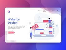 Landa sidaWebsitedesign stock illustrationer
