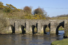Landacre Bridge, River Barle Royalty Free Stock Images