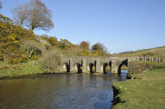 Landacre Bridge, River Barle Stock Photo