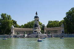 Landamark of the Retiro Park Stock Photo
