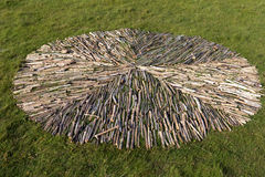 Landart in Westerhever. In Germany Stock Image