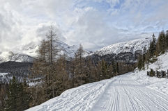 Landascape Dolomites. A winter landscape of the Dolomites in Italy stock photos