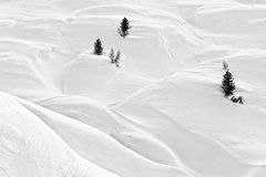 Landascape Dolomites. A winter landscape of the Dolomites in Italy royalty free stock images