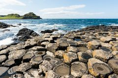 Landascapes of Ireland.  Giant`s Causeway, Northern Ireland. Landascapes of Ireland. Giant`s Causeway, Northern Ireland stock photography